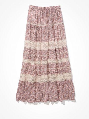 חצאית מידי קומות בהדפס פרחים/נשים של AMERICAN EAGLE