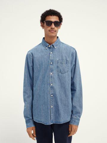 חולצת ג'ינס מכופתרת עם כיס של SCOTCH & SODA