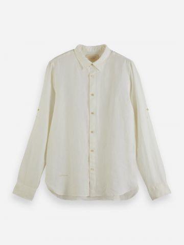 חולצת פשתן מכופתרת / גברים של SCOTCH & SODA