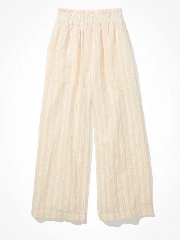 מכנסיים רחבים בהדפס פסים / נשים של AMERICAN EAGLE