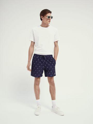 מכנסי בגדי ים בהדפס סוסני ים של SCOTCH & SODA