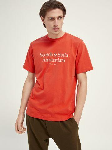 טי שירט עם הדפס לוגו של SCOTCH & SODA