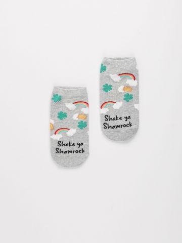 גרביים נמוכים בהדפס קשת בענן / נשים של AMERICAN EAGLE