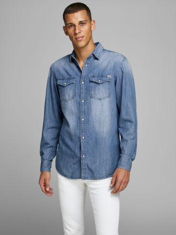 חולצת ג'ינס מכופתרת של JACK AND JONES