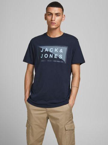 טי שירט עם לוגו של JACK AND JONES