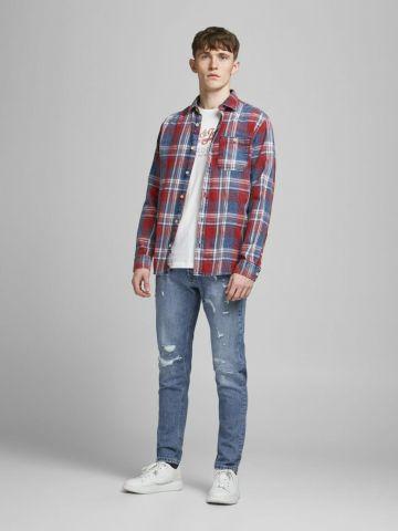 ג'ינס עם עיטורי קרעים של JACK AND JONES