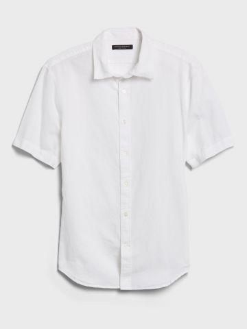 חולצה מכופתרת בד פשתן / גברים של BANANA REPUBLIC