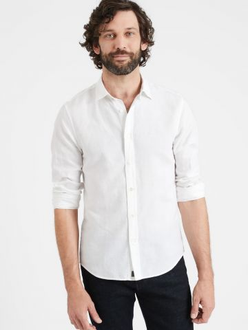 חולצת פשתן מכופתרת של BANANA REPUBLIC