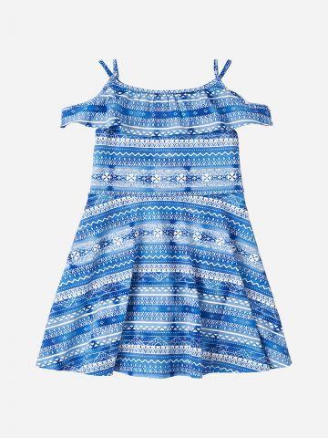 שמלה בהדפס טקסטורה עם מלמלה / בנות של THE CHILDREN'S PLACE