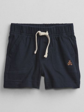מכנסיים קצרים עם רקמת דובי / 0-6Y של GAP