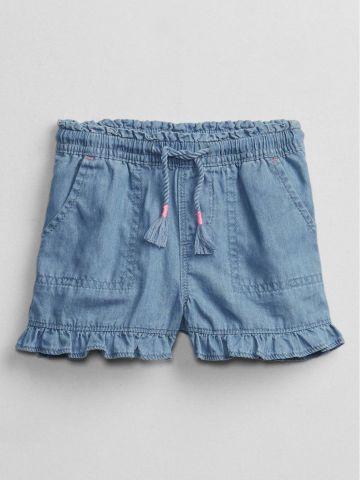 מכנסיים קצרים דמוי ג'ינס עם מלמלה / 12M-5Y של GAP