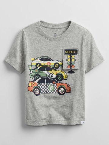 טי שירט עם הדפס מכוניות / 0-24M של GAP