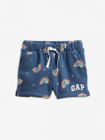 מכנסיים קצרים בהדפס קשת בענן ולוגו / 12M-5Y של GAP