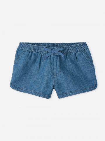 ג'ינס קצר עם פפיון / 9M-4Y של THE CHILDREN'S PLACE