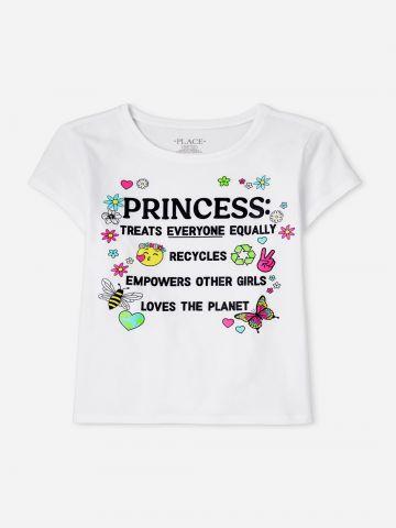 טי שירט עם הדפס כיתוב / בנות של THE CHILDREN'S PLACE