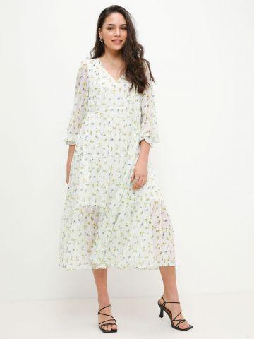 שמלת מקסי קומות בהדפס פרחים של YANGA