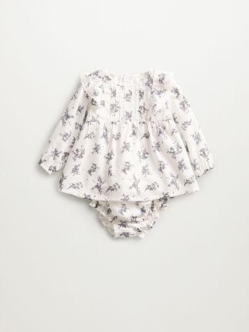 סט שמלה ותחתונים בהדפס פרחים / 1M-2Y של MANGO