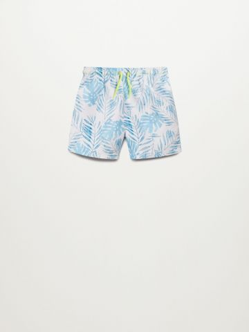 מכנסי בגד ים בהדפס עלים / 9M-4Y של MANGO