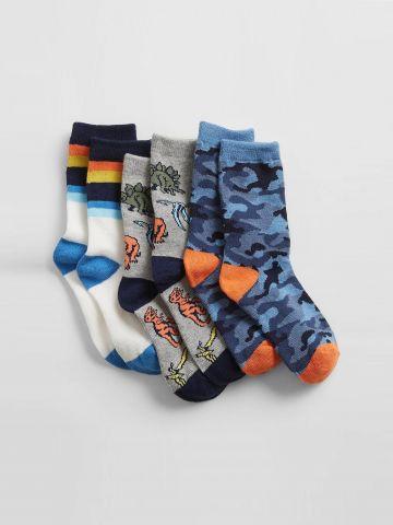 מארז 3 גרביים בצבעים שונים / ילדים של GAP