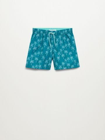 מכנסי בגד ים בהדפסת דקלים / בנים של MANGO