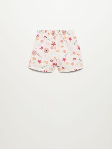 מכנסי בגד ים בהדפס צדפים / 9M-4Y של MANGO