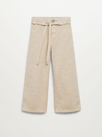 מכנסיים בגזרה מתרחבת של MANGO