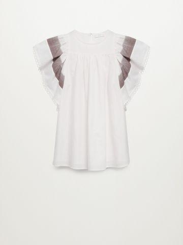 שמלת מיני עם שרוולים נפוחים של MANGO