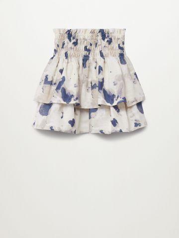 חצאית מודפסת גם גומי במותן/בנות של MANGO