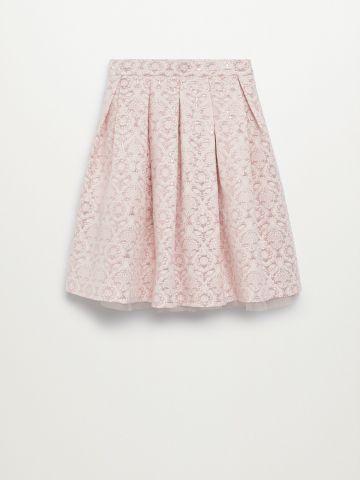 חצאית מידי בטקסטורה/ בנות של MANGO