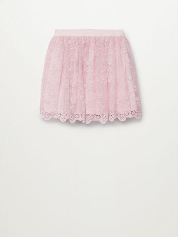 חצאית עם עיטורי רקמה/ בנות של MANGO