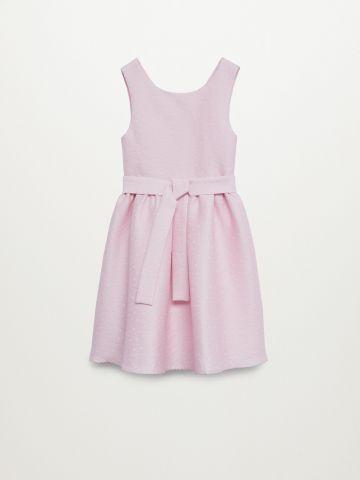 שמלת מידי נקודות עם חגורת קשירה / בנות של MANGO