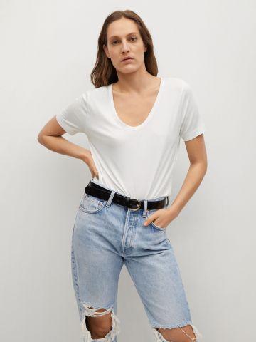 חולצת בייסיק / נשים של MANGO