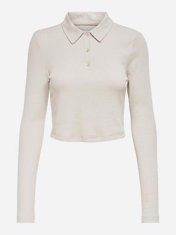 חולצה עם צווארון קלאסי וכפתורים / נשים של ONLY