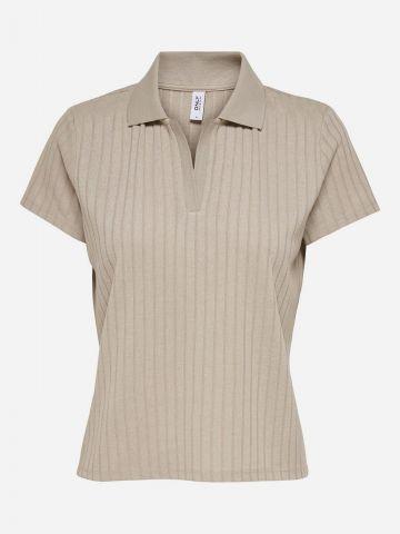 חולצת ריב עם צוארון / נשים של ONLY