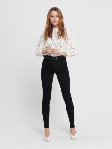 ג'ינס סקיני בגזרה גבוהה של ONLY
