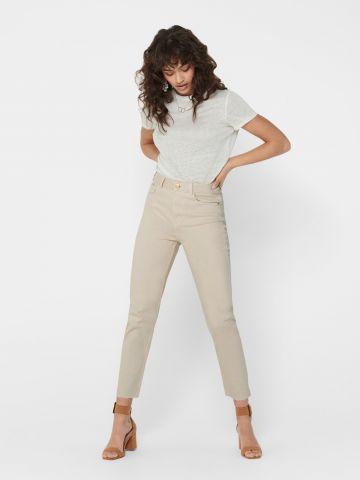 ג'ינס סטרץ' קרופ בגזרה ישרה של ONLY