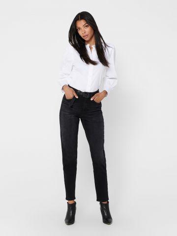 ג'ינס ווש בגזרת Mom של ONLY