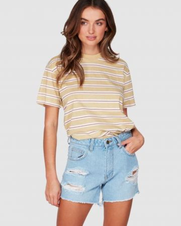 מכנסי ג'ינס קצרים עם קרעים של BILLABONG