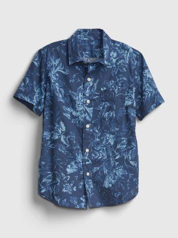 חולצה מכופתרת קצרה בהדפס / בנים של GAP