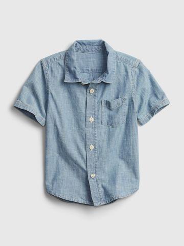 חולצה מכופתרת עם כיס / 12M-5Y של GAP