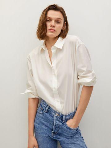 ג'ינס גבוה בשטיפה בהירה של MANGO