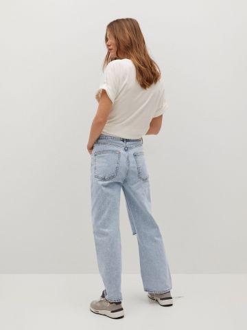ג'ינס ווש בגזרה גבוהה של MANGO