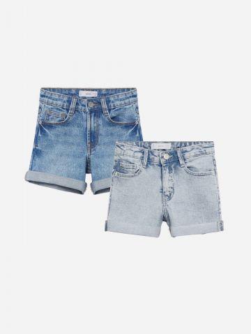 מארז 2 ג'ינסים קצרים בצבעים שונים / בנות של MANGO
