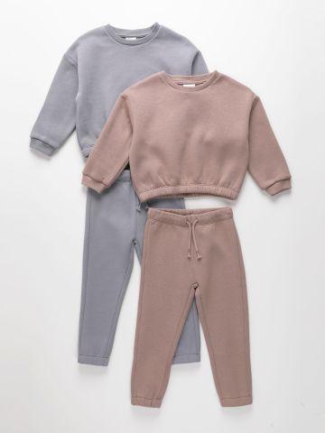 מארז 2 סטים סווטשירט ומכנסי טרנינג פוטר / בנות של TERMINAL X KIDS