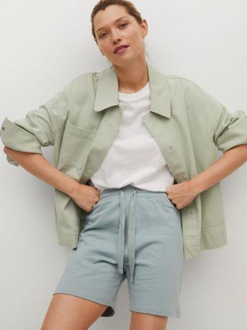 מכנסיים קצרים בשילוב קשירה של MANGO