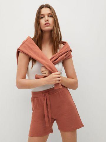 מכנסי טרנינג קצרים מכותנה אורגנית של MANGO