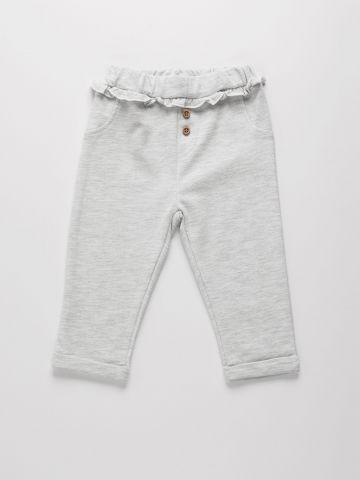 מכנסיים ארוכים מלאנז' עם כפתורים / 0-24M של THE CHILDREN'S PLACE
