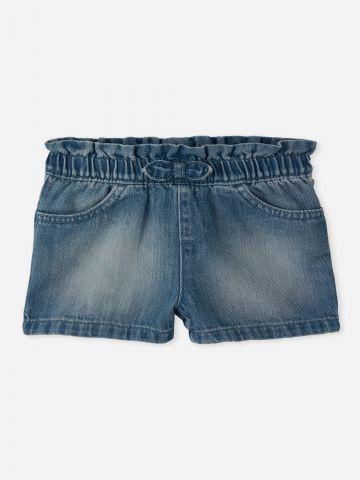 ג'ינס קצר ווש עם גומי / 9M-4Y של THE CHILDREN'S PLACE