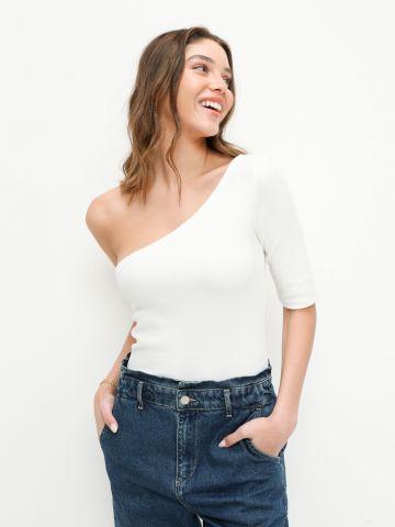 חולצת וואן שולדר ריב של YANGA