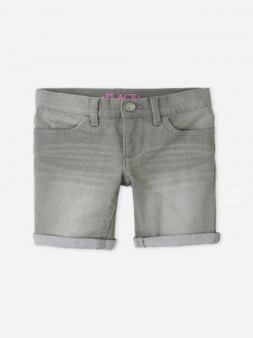 מכנסי ג'ינס קצרים בסיומת קיפול / בנות של THE CHILDREN'S PLACE